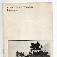 Juegos de mesa: LIBRO DE INTRUCCIONES DEL JUEGO ROMMEL Y MONTGOMERI. NAC. 1982. COMPLETO. Lote 194767823