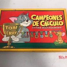 Juegos de mesa: ANTIGUO JUGUETE CAMPEONES DE CALCULO DE BORRAS AÑO 195. Lote 194883225