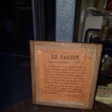 Juegos de mesa: ANTIGUO JUEGO LE TAQUIN FICHAS DE PORCELANA EN CAJA DE MADERA PRINCIPIOS SIGLO XX. Lote 194884305