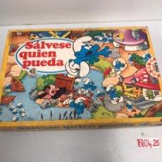 Juegos de mesa: SALVESE QUIÉN PUEDA PITUFOS JUEGO EDUCA AÑOS 80. Lote 194894382