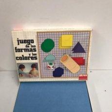 Juegos de mesa: JUEGO DE LAS FORMAS Y LOS COLORES. Lote 194920488
