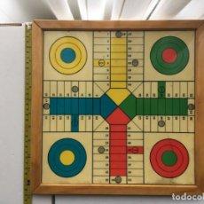Juegos de mesa: PARCHIS Y OCA MADERA JUEGO DE MESA KREATEN 32 CM. Lote 194964516