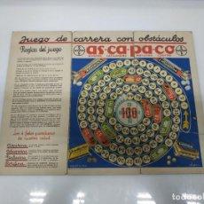 Juegos de mesa: ANTIGUO JUEGO CARRERAS CON OBSTACULOS PUBLICIDAD BAYER ORIGINAL ART-DECO AÑOS 20. SE TRATA DE PROPAG. Lote 194974703