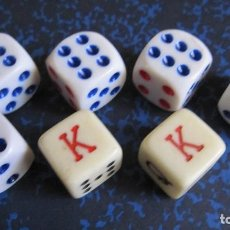 Juegos de mesa: PEQUEÑO JUEGO DE 7 DADOS. MUY BUEN ESTADO. Lote 194991166