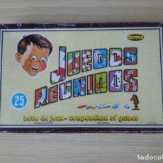 Juegos de mesa: 25 JUEGOS REUNIDOS GEYPER ( RULETA INCOMPLETA). Lote 195014308