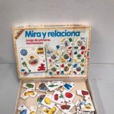Juegos de mesa: MIRA Y RELACIONA. Lote 195118682