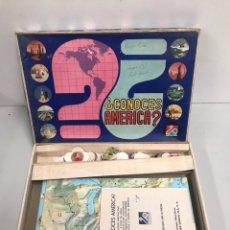 Juegos de mesa: CONOCE AMÉRICA. Lote 195124226