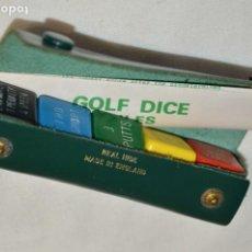 Juegos de mesa: GOLF DICE RULES - ANTIGUA / CAJA - ESTUCHE CON 5 DADOS DE COLORES - MADE IN ENGLAND ¡RARO, MIRA!. Lote 195142535
