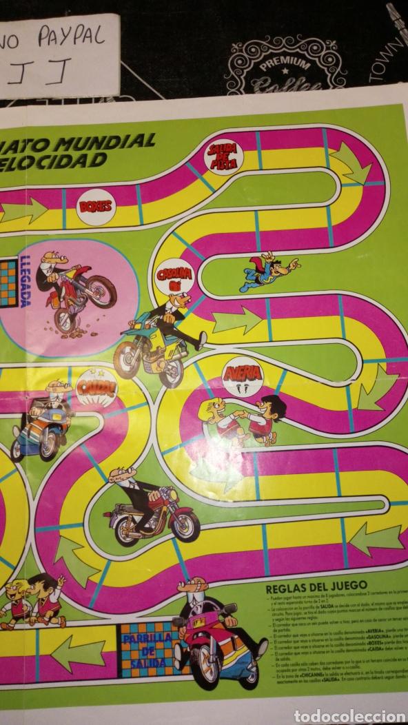 Juegos de mesa: Tablero de juego en papel mortadelo y filemon campeonato mundial de velocidad inedito en tc 55x40cm - Foto 3 - 195151090
