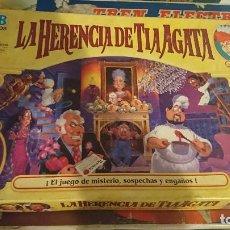 Juegos de mesa: OCASION COLECCIONISTAS ANTIGUO JUEGO DE MESA MB LA HERENCIA DE TIA AGATA JUGUETE. Lote 195234288