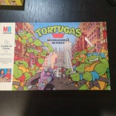 Juegos de mesa: TORTUGAS NINJA DEVORADORAS DE PIZZA DE MB 1991 MIRAGES STUDIOS COMPLETO!!!!. Lote 195249286