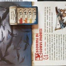 Juegos de mesa: STORMI DI CORVI MORTI. CARTAS E INSTRUCCIONES ITALIANO. EXPANSIÓN CUERVOS, ZOMBICIDE BLACK PLAGUE. Lote 195283260