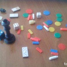 Juegos de mesa: LOTE DE FICHAS DE JUEGOS DE MESA ANTIGUOS, JUEGOS REUNIDOS, CONGOST, ETC.... Lote 195314973