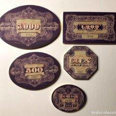 Juegos de mesa: FICHAS DE CASINO ANTIGUAS. Lote 195342492