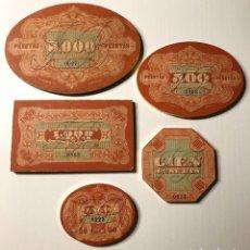 Juegos de mesa: FICHAS DE CASINO ANTIGUAS. Lote 195342552