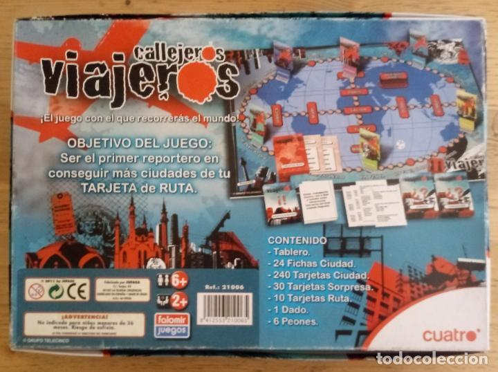 Juegos de mesa: CALLEJEROS VIAJEROS - CUATRO - FALOMIR JUEGOS - COMPLETO - Foto 6 - 195370885