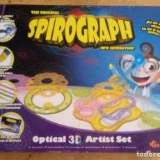 Juegos de mesa: SPIROGRAPH - OPTICAL 3D ARTIST SET - HAY MAS PIEZAS - VER FOTOS ADICIONALES. Lote 195372578