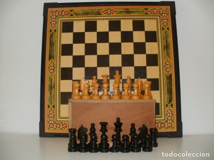 AJEDREZ INGLES Nº 4 CON BONITO TABLERO DE AJEDREZ Y PARCHIS (Juguetes - Juegos - Juegos de Mesa)
