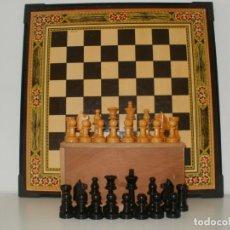 Juegos de mesa: AJEDREZ INGLES Nº 4 CON BONITO TABLERO DE AJEDREZ Y PARCHIS. Lote 195380328