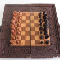 Juegos de mesa: AJEDREZ DE MADERA . Lote 195399567