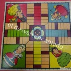 Juegos de mesa: ANTIGUO PARCHIS EN CARTON LITOGRAFIADO J. AVIÑÓ. VALENCIA. ILUSTRADO POR MOLLÁ. AÑOS 1920S. Lote 195422512