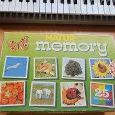 Juegos de mesa: JUEGO DE MEMORIA NATUR MEMORY. Lote 195473546