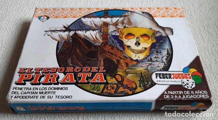 Juegos de mesa: Antiguo juego de mesa El tesoro del pirata de Feber - Foto 2 - 195505111