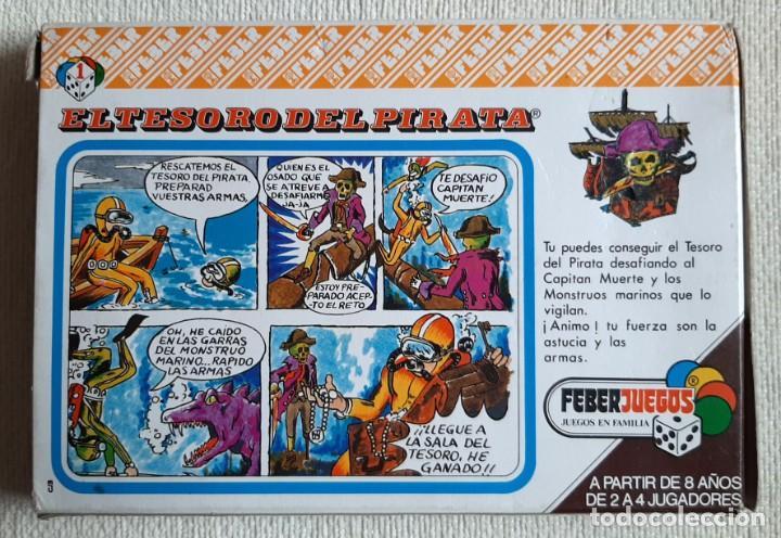 Juegos de mesa: Antiguo juego de mesa El tesoro del pirata de Feber - Foto 3 - 195505111