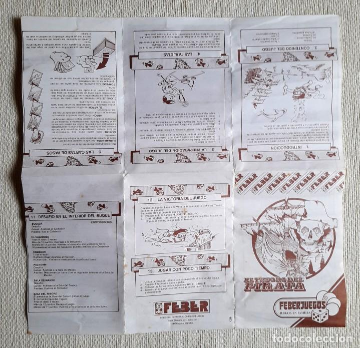 Juegos de mesa: Antiguo juego de mesa El tesoro del pirata de Feber - Foto 9 - 195505111