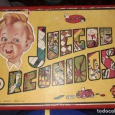 Juegos de mesa: JUEGOS REUNIDOS GEYPER Nº0.AÑOS 50,CAJA DE MADERA.. Lote 196114602