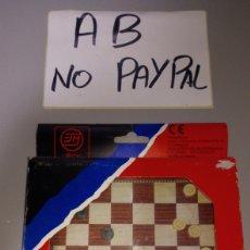 Juegos de mesa: JUEGOS MAGNÉTICOS MARIGO BARCELONA DAMAS CON CAJA. Lote 196123763