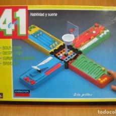 Juegos de mesa: ANTIGUO JUEGO DE MESA. 4 EN 1. NO ESTÁ COMPLETO. Lote 196343006