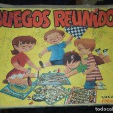Juegos de mesa: ANTIGUO JUEGOS REUNIDOS CREACIONES COLOMINAS 1962 ?SOLO CINCO TABLEROS OCA CARRERA CABALLOS CAJA. Lote 196621295