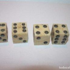Juegos de mesa: MUY ANTIGUOS DADOS DE HUESO...BUEN ESTADO DE CONSERVACION.. Lote 196963551