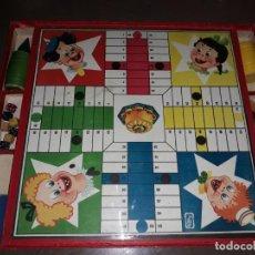 Juegos de mesa: PARCHEESI MUY ANTIGUO ( FICHAS , DADOS Y CUBILETES DE MADERA ) FABRICADO EN ESPAÑA A. PEREZ SANCHEZ. Lote 197118546