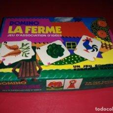 Juegos de mesa: DOMINO LA FERME ( LA GRANJA ).COPYRIGHT FERNAND NATHAN. PARIS 1975 COMPLETO. Lote 197196602