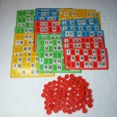 Juegos de mesa: JUEGO BINGO CON 24 CARTONES FALTA UNA FICHA.AÑOS 70.. Lote 197786588