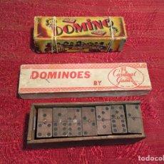 Juegos de mesa: ANTIGUOS 3 JUEGOS DE DOMINÓ EN MADERA AÑOS 20-30-40. Lote 199326671