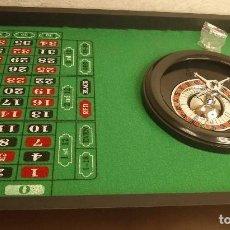 Juegos de mesa: PRECIOSA RULETA CON FICHAS PREPARADA PARA EL JUEGO. Lote 199375898