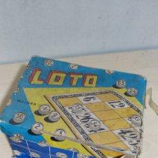 Juegos de mesa: BINGO LOTERÍA LOTO MAJORA - PORTUGAL AÑOS 50. Lote 200575767