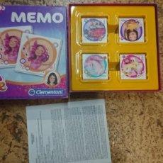 Juegos de mesa: JUEGO DIVERTIDO MEMORY DE MIA AND ME CLEMENTONI. Lote 201106697