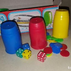 Jeux de table: JUEGO DE LA OCA Y PARCHIS - CUBOS Y FICHAS DE DOMENECH. Lote 202894473
