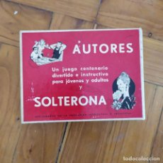 Juegos de mesa: AUTORES Y SOLTERONA - JUEGOS CRONE. Lote 203921308