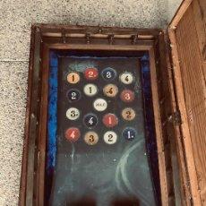 Juegos de mesa: JUEGO EN SU CAJA EL BARRAT METAL BRONCE MADERA FICHAS AROS MADERA S XIX REGLAMENTO 15X75X50CMS. Lote 203965065