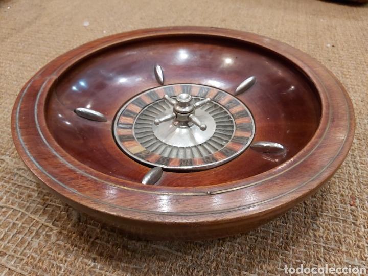 Juegos de mesa: ANTIGUA RULETA DE CAOBA DE GRANDES DIMENSIONES - Foto 2 - 204405412