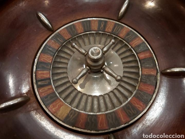 Juegos de mesa: ANTIGUA RULETA DE CAOBA DE GRANDES DIMENSIONES - Foto 3 - 204405412
