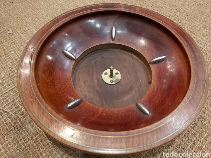 Juegos de mesa: ANTIGUA RULETA DE CAOBA DE GRANDES DIMENSIONES - Foto 4 - 204405412
