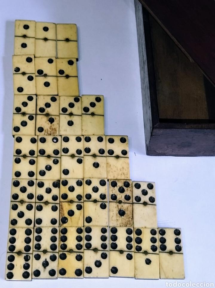 Juegos de mesa: Dominó siglo XIX hueso y madera de ébano. Completo. - Foto 2 - 204473486