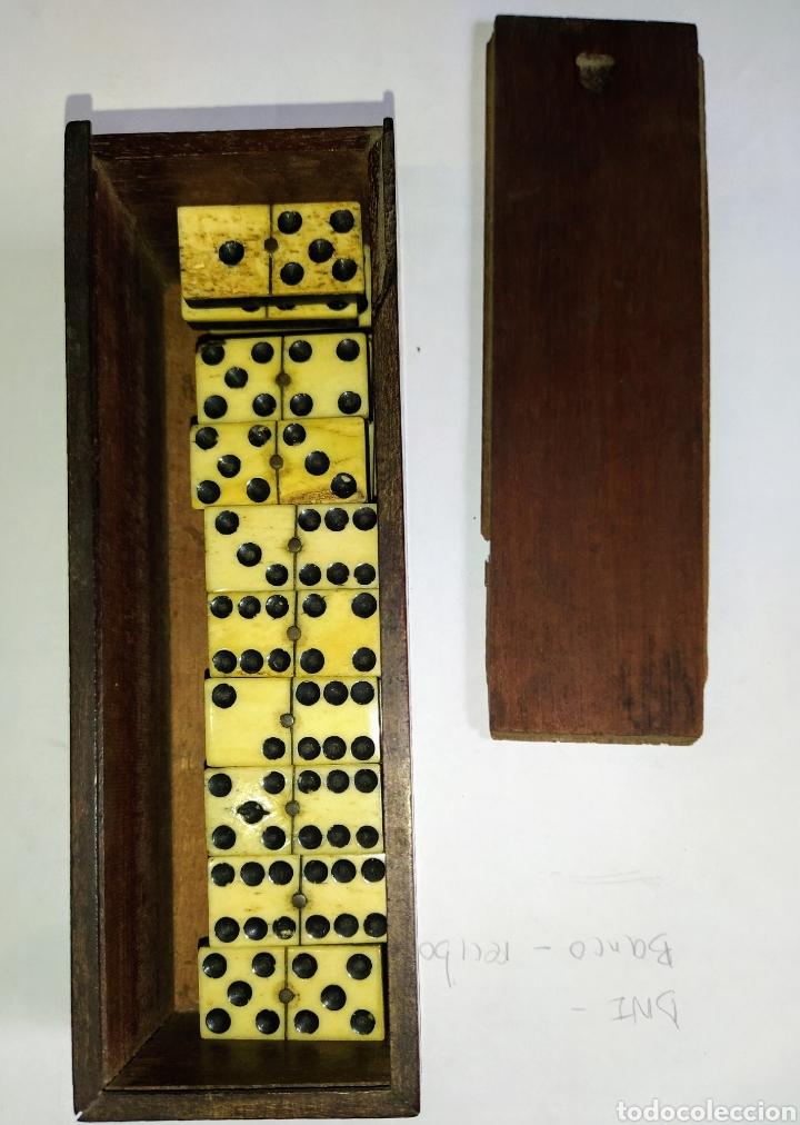 Juegos de mesa: Dominó siglo XIX hueso y madera de ébano. Completo. - Foto 3 - 204473486