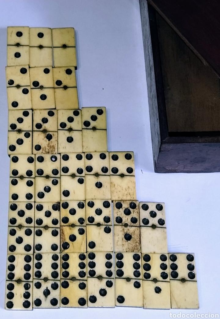 Juegos de mesa: Dominó siglo XIX hueso y madera de ébano. Completo. - Foto 8 - 204473486